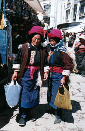 Locals Shopping At The Mall - Lhasa